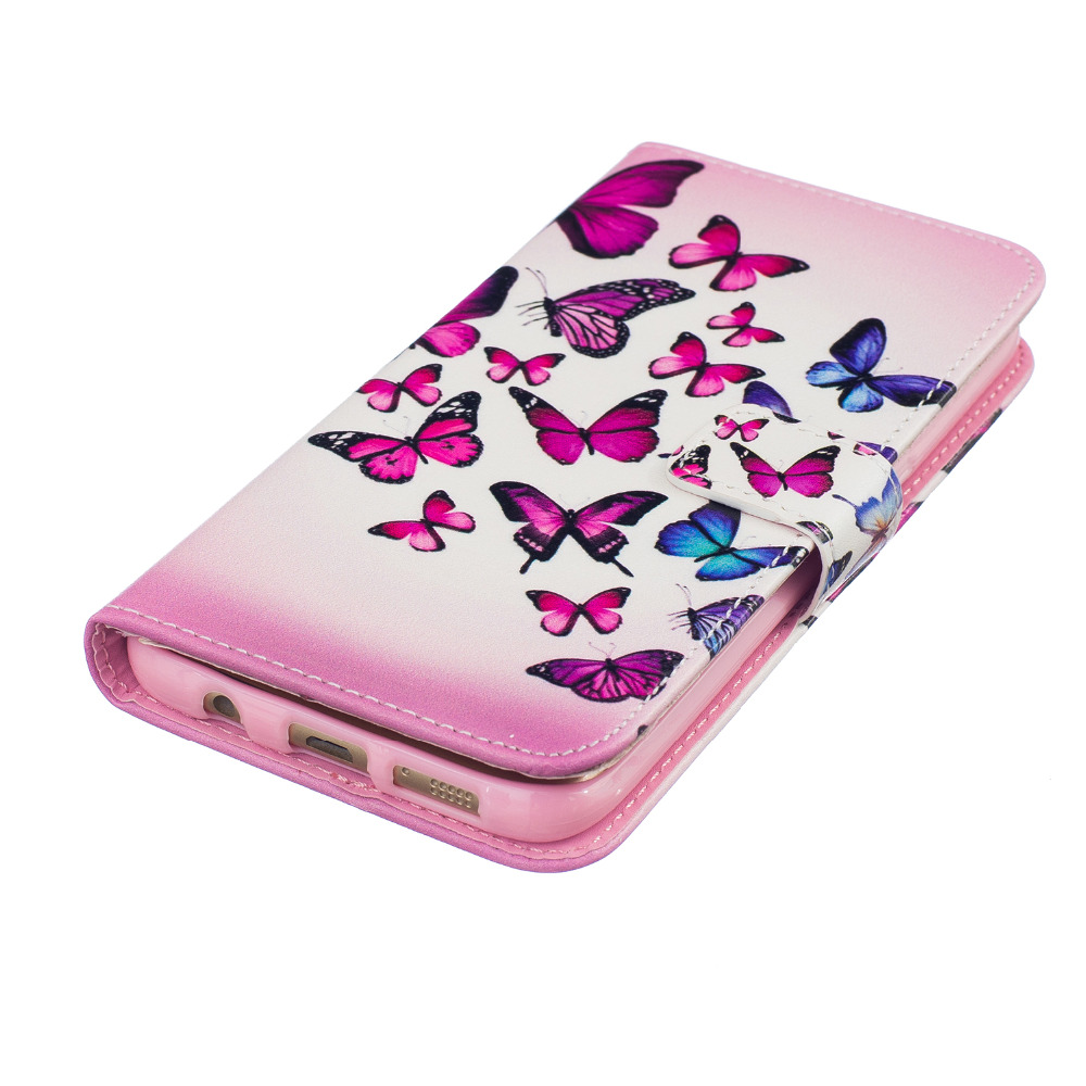 Couqe Cases For Samsung Galaxy S7 edge Leather Cover Cute Seagulls Feather Cell Phone Deals Wallet Covers For Galaxy S7 edge