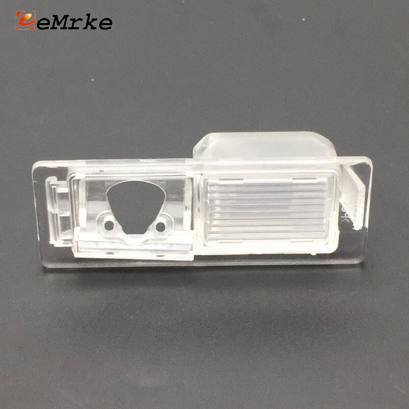 EEMRKE Car Camera Bracket License Plate Lights Housing Mount for Opel Mokka / Vauxhall Mokka 2012 2013 2014 2015 2016