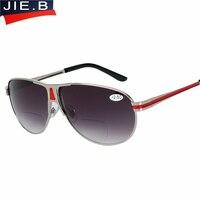 2016 Sun Readers Black Brown Lens Bifocal Reading Sunglasses Presbyopic Glasses Outdoor Fishing Sunglasses Reading Glasses