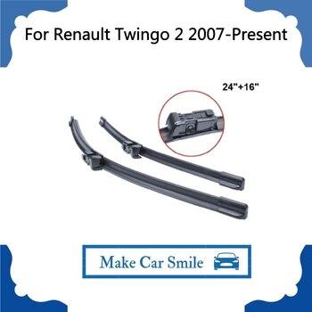 """Limpiaparabrisas Para Renault Twingo 2 2007-presente 24 """"+ 16"""" de Coches Accesorios Para Automóviles Parabrisas Limpiaparabrisas Hoja de Precios"""