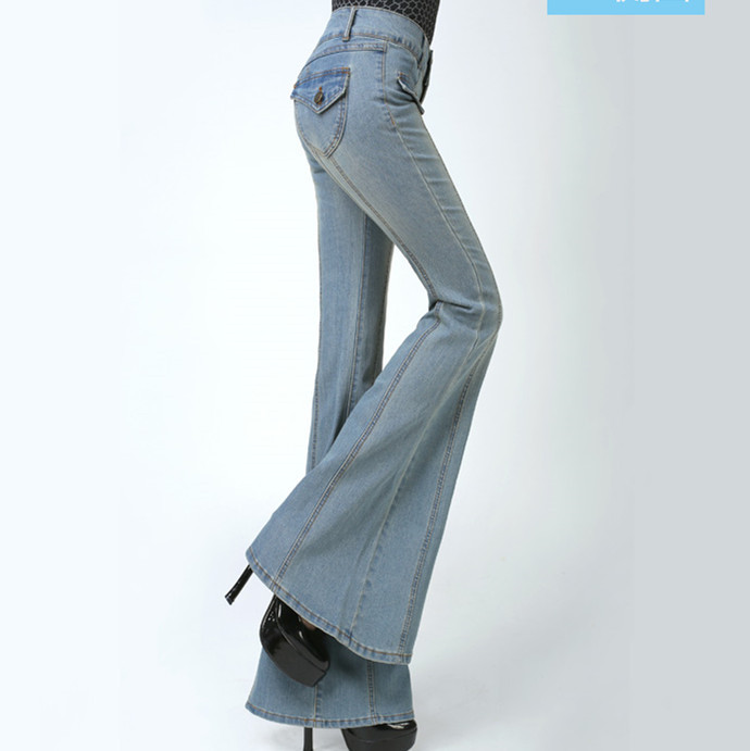 Plus size high waisted bootcut jeans
