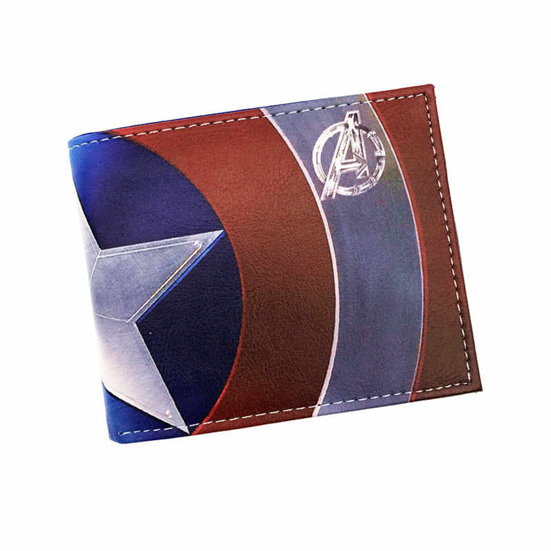 Free Shipping Anime Captain America Purse Logo Credit Oyster License card Holder Cartoon Wallet