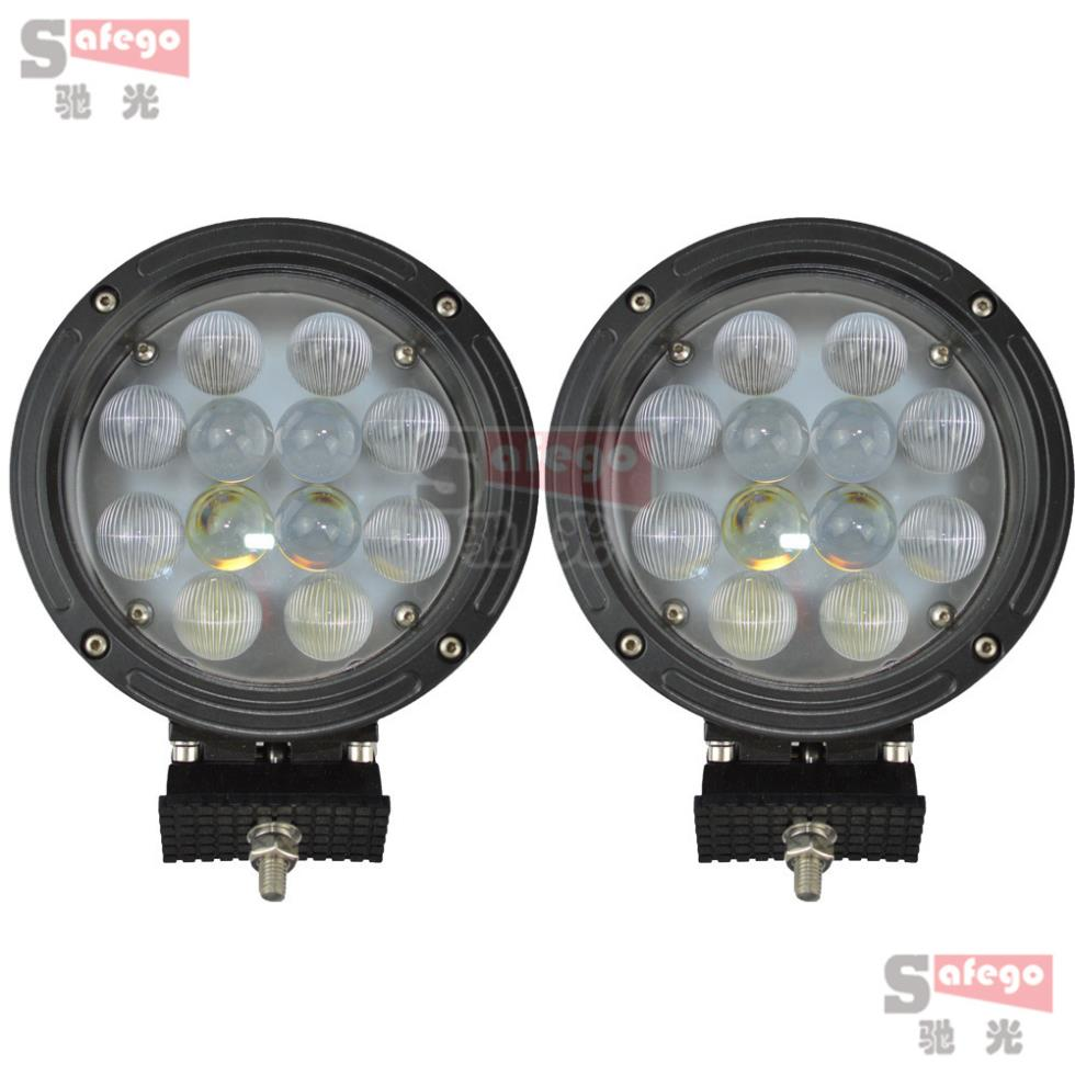 2pcs 7'' 60W LED Work Light Car 4x4 4WD worklight AWD SUV ATV  worklamp Tractor Truck Round Offroad Driving 60W Work light