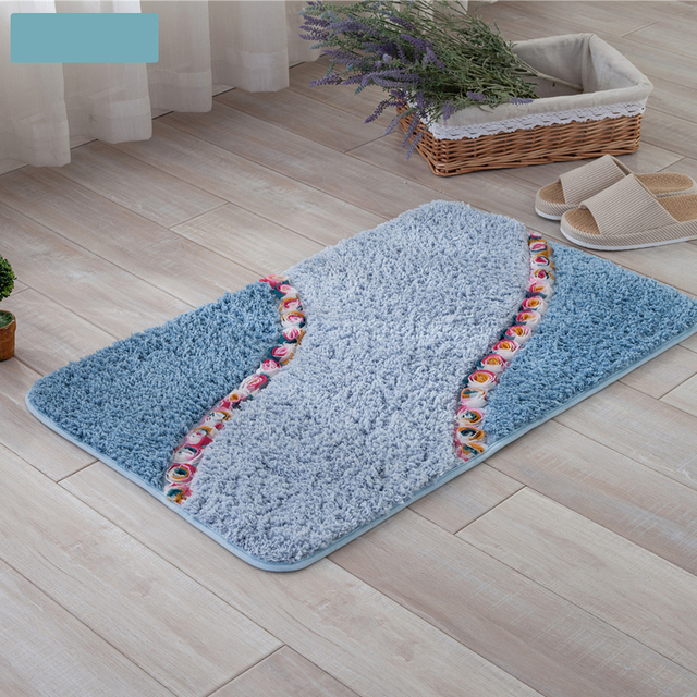 Rose Flowers Decoration Beautiful Bathroom Carpet Entrance Doormat Rug Anti Slip Bedroom Kitchen