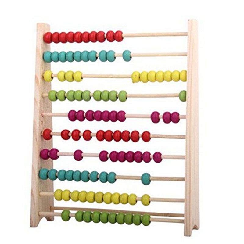 LeadingStar Wooden 10-Rows Abacus Educational Toy for Kids Early Learning Educational Toy Small Wooden Abacus For Children