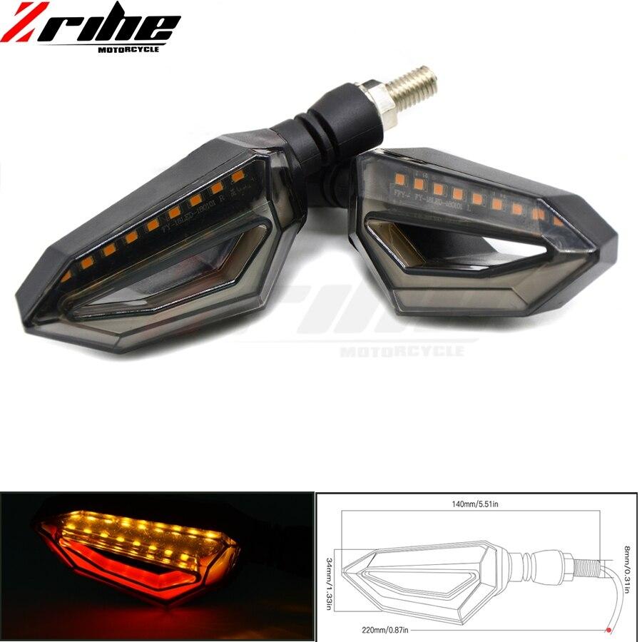 Motorcycle Smoke Turn Signal Indicators Lights Lamp Universal LED Flush Mount Blinkers Flashers For KTM DUKE 125/200/390 RC390