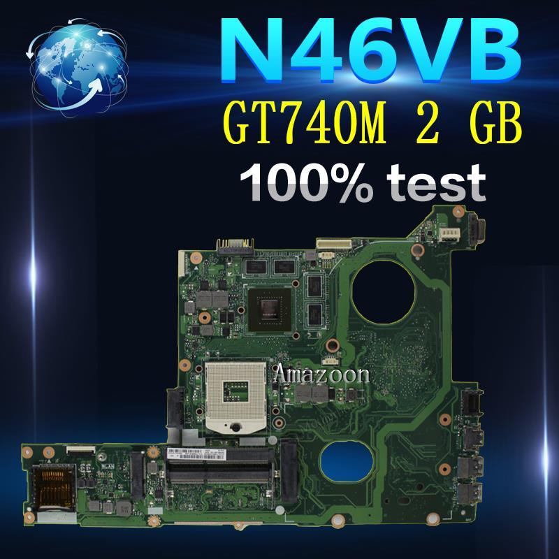 Amazoon N46VB GT740M 2 GB N46VJ laptop motherboard mainboard Para ASUS N46V N46VM N46VZ N46VB 60NB0100 MB2 (020) 100% Testad