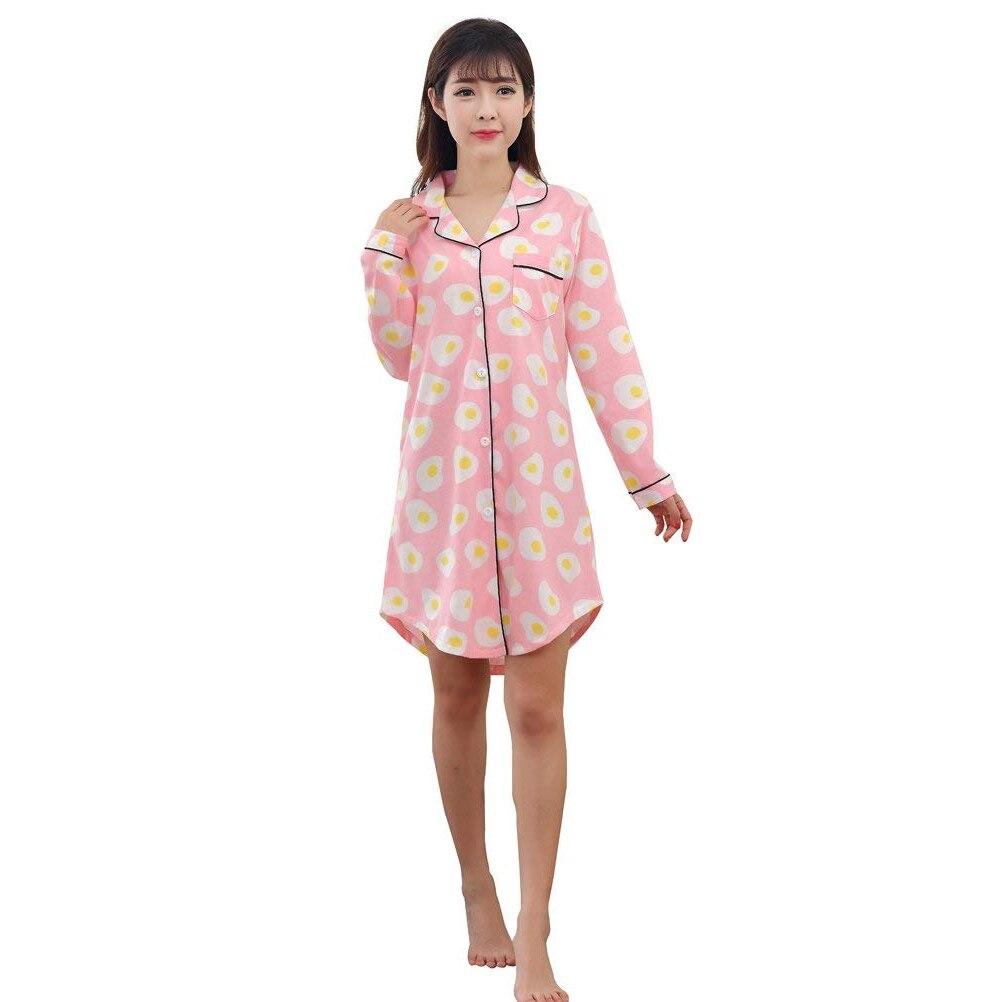 Praktisch Casual Hülse Schlaf Kleid Wohnheim Hemd Nachthemd Bequem Weichen Kleid Für Frauen Kleidung Pijamas Moderater Preis Nachthemden & Sleepshirts