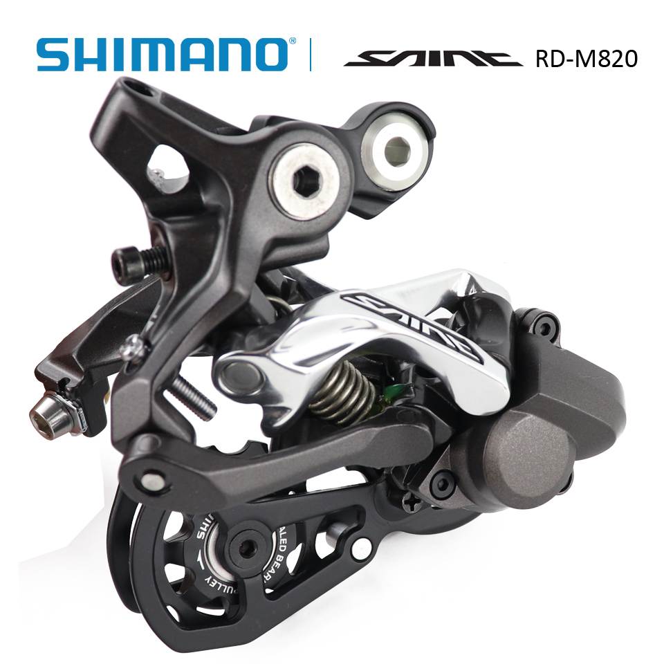 SHIMANO SAINT RD-M820 Rear derailleur 10S MTB bicycle bike M820 MTB Downhill DH Freeride FR Enduro All Mountain Rear derailleur shimano saint mx80 flat pedal mtb mountain bike cycling sealed bearing aluminum alloy bicycle all mountain freeride dh downhill