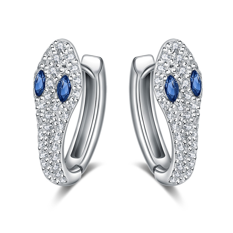 Корейские змеиные маленькие серьги-кольца с шармом Bling Crystal серьги на выпускной Personalized вечерние Y кубические циркониевые серьги Femme