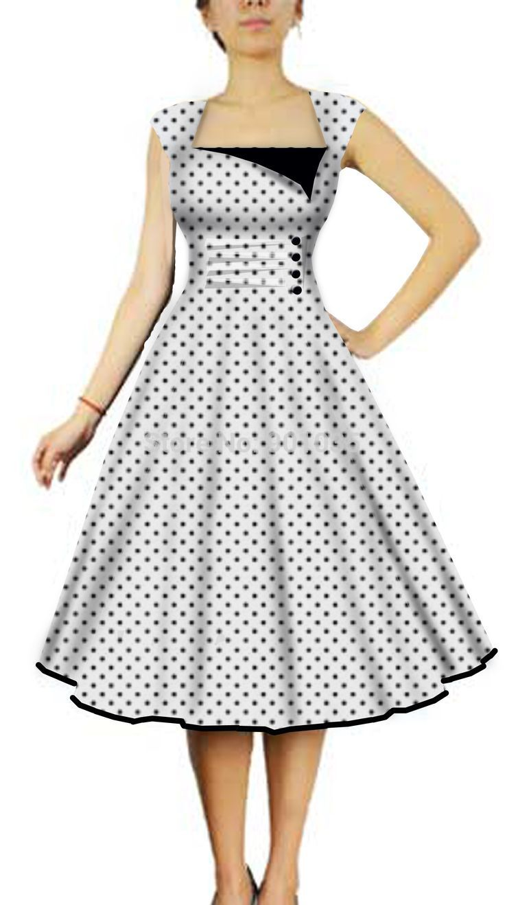 Free Shipping polka dot Rockabilly PINUP SWING Dress plus size 8 24