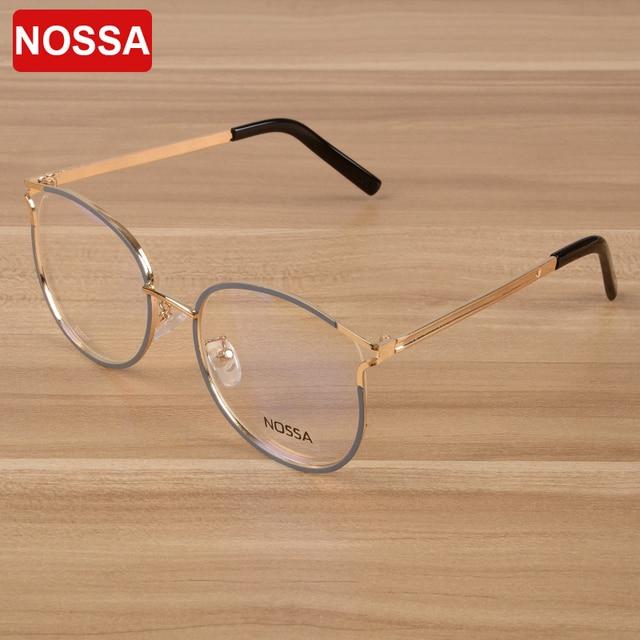 a9d183617e8 NOSSA New Fashion Eyeglasses Frames Women   Men Elegant Metal Optical Frame  Personality Cool Spectacles Unisex