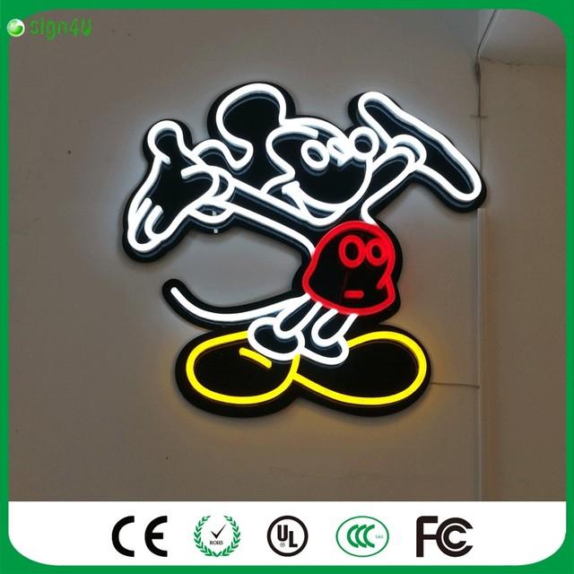 Ferro americano agir o papel de parede do vintage sinais de néon para bar criativo porta levou mesa de luz decoração da casa do vintage
