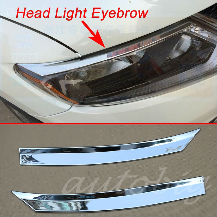 Buy Head Light Eyebrow Cover Chrome Front Lamp Trim FOR Nissan X-Trail Rogue T32 2014 2015 2016 Chromium Style Headlight Accessories for $15.93 in AliExpress store