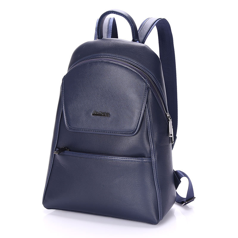 ФОТО Fashion Men Business Casual School Faux Synthetic PU Leather Laptop Backpack High Quality Travel Backpacks Mochila Daypack