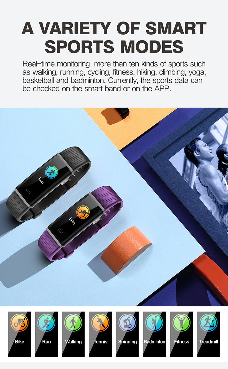 FENTORN Smart Wristbands ID130 Plus Color HR Smart Band Activity Tracker Fitness Smart Bracelet with pedometer for Xiaomi Iphone phones (2)