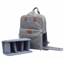 Cheaper Multi-functional Waterproof Padded Divider Insert DSLR Camera backpack Bag Travel Bag Case Laotop 15″ for Digital SLR Cameras