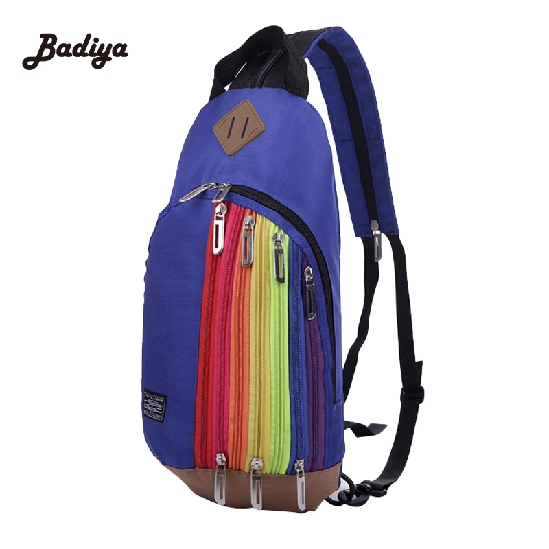 Fashion Sling Bag Casual Shoulder Bags For Women And Men Rainbow