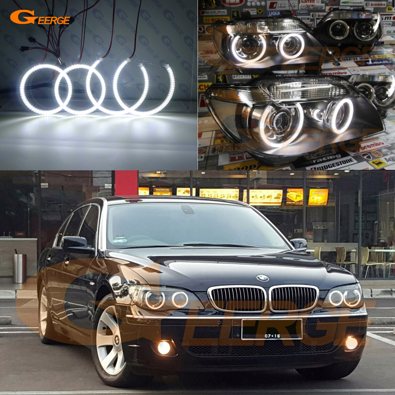 Pour BMW E66 E65 750I 760i 750Li 760Li 2006 2007 2008 XENON PHARE Excellente Ultra bright smd led Ange Yeux kit DRL