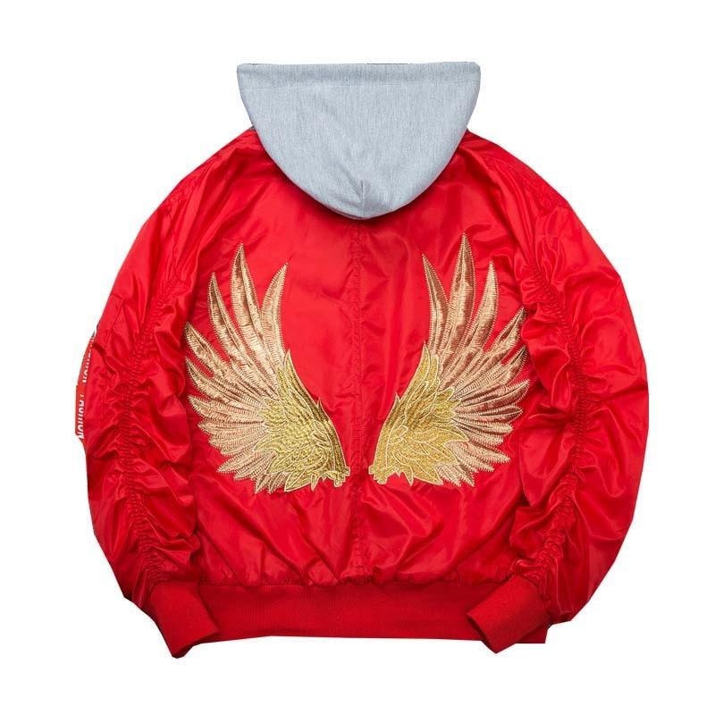 Blouson aviateur homme ailes d'or broderie MA-1 veste homme Hip Hop décontracté Outwear hommes manteau bombe vestes de Baseball