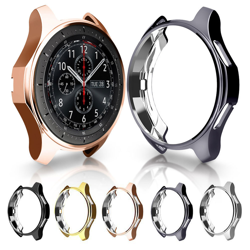Fashion Slim TPU Watch Case For Samsung Gear S3 Galaxy Watch 46mm Protective Cover Anti Scratch Accessories