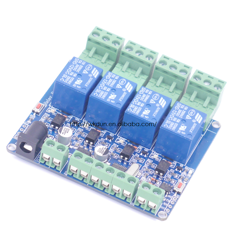 12v 4 Channel Relay Module   Stm8s103 For Arduino Arm Pic