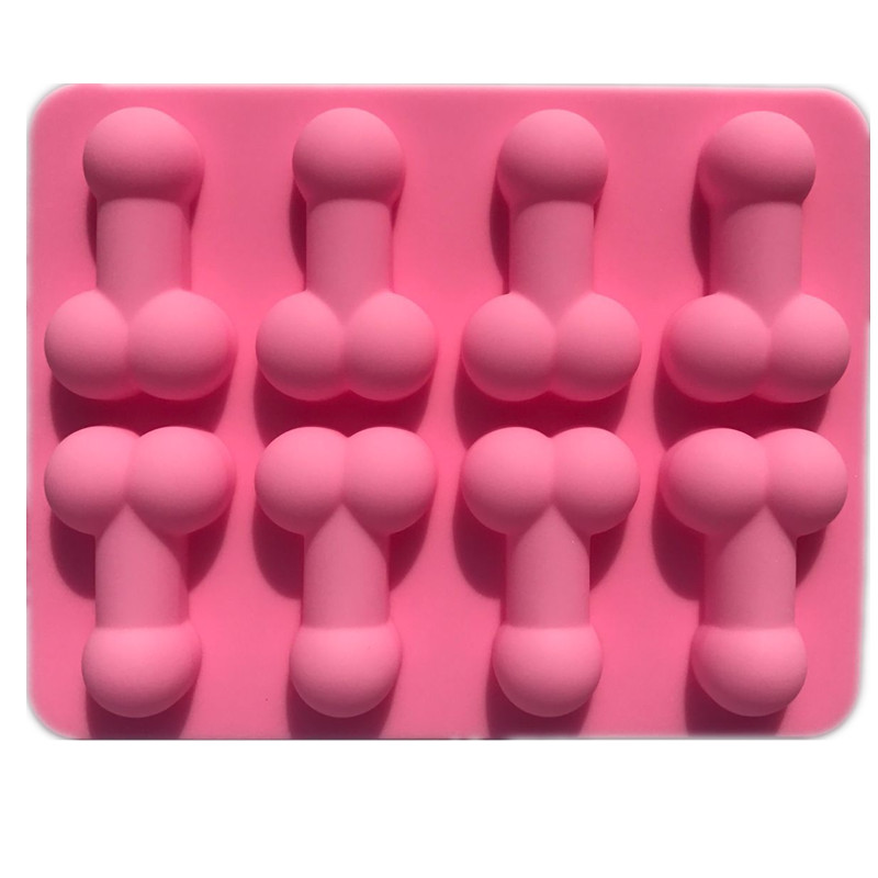 Silicone Dick Ice Cube Cake Funny Sexy Chocolate Soap Tray Cake Mould Tools