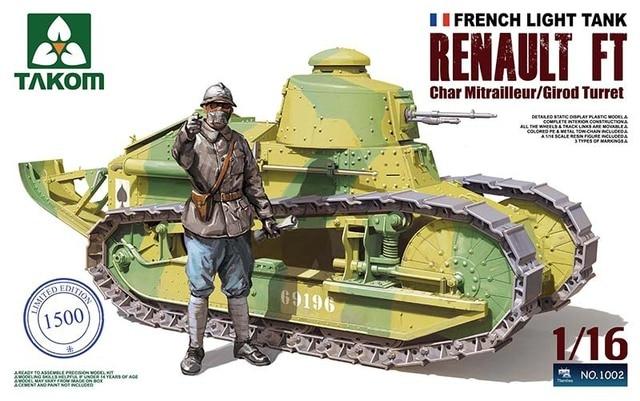 Takom Model 1002 1 16 French Light Tank Renault Ft Char Mitrailleur