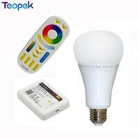 Mi. Light 2.4G 12 W RGB + CCT Sans Fil E27 LED Ampoule Dimmable 2 en 1 Smart LED Lumière FUT105 + 4-Zone 2.4G RF À Distance + Wifi iBox2
