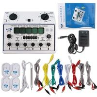 Цифровой меридиан Pulse иглоукалывания терапии инструментов массажер для тела Миостимулятор для похудения сжигатель жира + 4 электрода колод