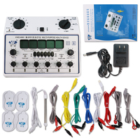 Digital Meridian Pulse Tens Acupuncture Therapy Instruments Body Massager Muscle Stimulator Slimming Fat Burner+4 Electrode pads