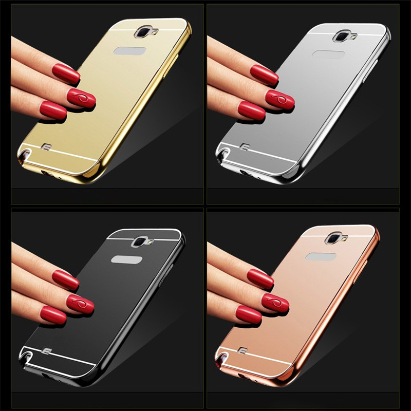 sale retailer 5af2c 155ee US $3.1 |Luxury Metal Aluminum Frame Case For Samsung Galaxy Note 2 II  N7100 Phone Bag Acrylic Mirror Cover For Samsung Note 2 Case-in Phone Pouch  ...