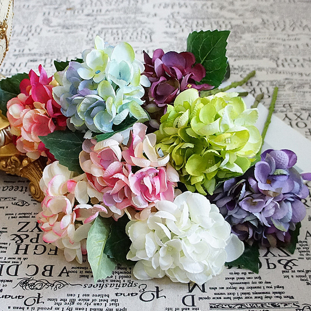 1 bundle artificial flowers cheap for home wedding new year 1 bundle artificial flowers cheap for home wedding new year christmas decoration accessories diy silk hydrangea multicolor izmirmasajfo
