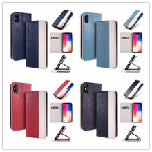 For iPhone 6S Case Leather Silk Magnetic Flip Wallet Cover For iPhone 6 6S 7 8 Plus X Silicon Case With Stand Cards Pocket