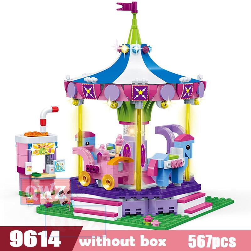 Legoes город девушка друзья большой сад вилла модель строительные блоки кирпич техника Playmobil игрушки для детей Подарки - Цвет: 9614 without box