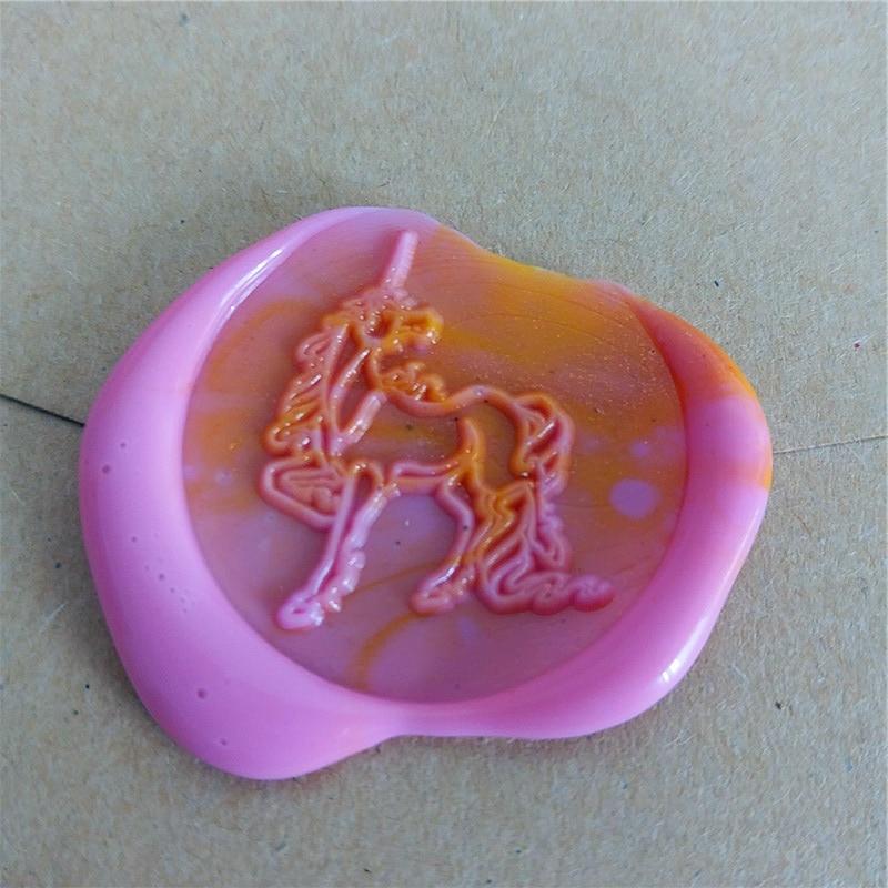 Unicorn Horse Mythical Wax Stamper Wax Seal Stamp/Sealing Wax Seal/Wax Stamp/with wood handle box set kit wedding greeting gifts kitlee40100quar4210 value kit survivor tyvek expansion mailer quar4210 and lee ultimate stamp dispenser lee40100