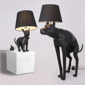 Moderno e minimalista great dane lâmpadas de assoalho lâmpada pé led nordic cão lâmpadas assoalho para sala estar vloer livre lâmpada pé
