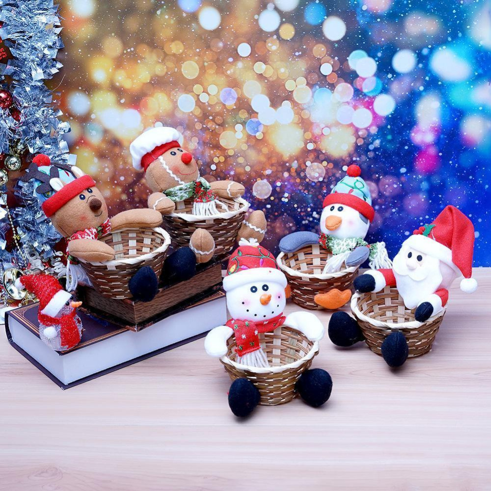 Christmas Candy Basket Children S Candy Box Decoration Santa Claus