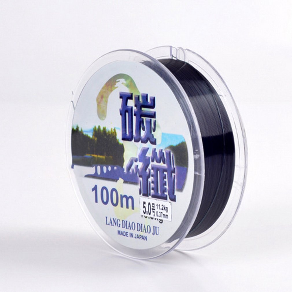 LEO Fluorocarbon Fishing Lines 100M Carbon Fiber Leader Fly Line Fast Sinking For Carp Fishing Hot Sale Dropshipping