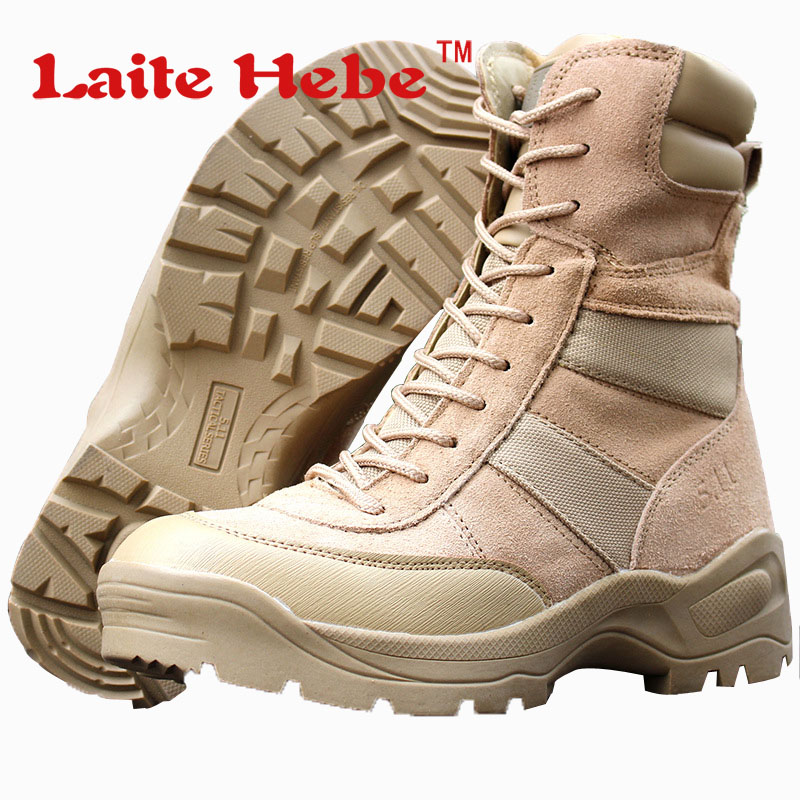 Laite Hebe Military Men Boots Delta Tactical Boots SWAT American Combat Winter Army Boots Desert Boot Hiking Shoes Men Size39-44 2016 sale professional men s boots camouflage military boot waterproof hunting hiking shoes size euro 39 44 bo01