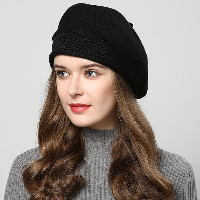 Winter Hats Knitted Hat Berets Women's Autumn Hat Touca Inverno 7 Colors
