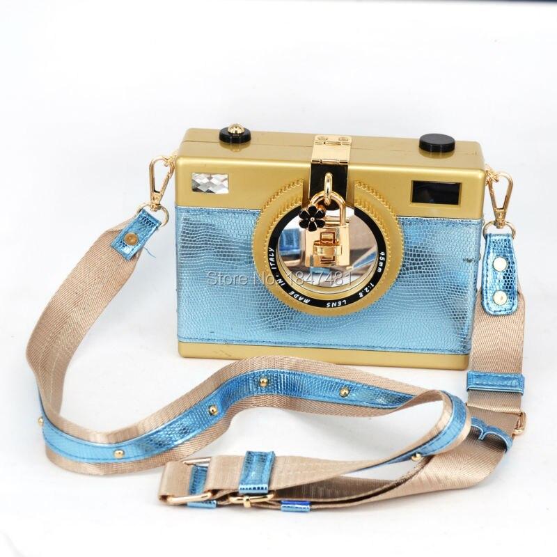 La cámara más nueva Forma de tarde del bolso de la mujer Bolso Negro Pu correa N