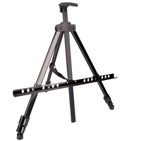 Free Shipping Metal Tripod Art Easel Children's Drawing Artist Metal Aluminum Easel Black Advertising Stand