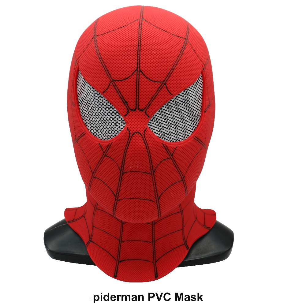 The Avengers Alliance Infinity War Spiderman PVC Mask Realistic Cosplay Spiderman Full Head Mask Halloween Spider Man Masks Велюр