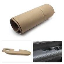 Apoyabrazos de paneles para manija de puerta delantera y trasera, cubiertas de molduras de cuero de microfibra para Honda CRV 2007 2008 2009 2010 2011 W, 1 par