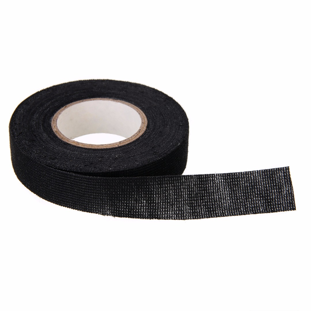 19mmx15m Adhesive Cloth Tape Heat-resistant Wiring Harness Tape Looms Cloth Fabric Tape Self Adhesive Felt Tape
