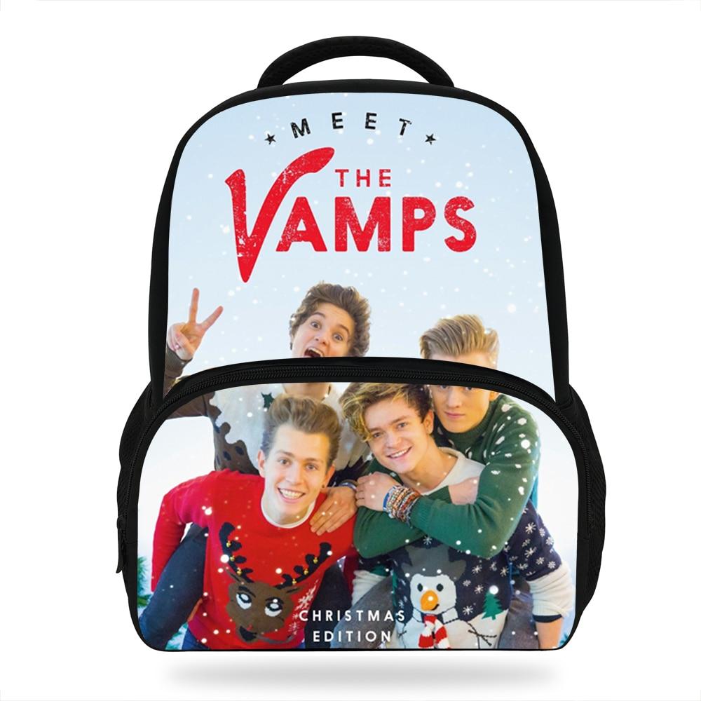 Schultaschen Zielstrebig 14 Zoll Beliebte Super Star Druck Tasche Für Kinder Band Die Vamps Rucksack Für Schule Mädchen Jungen Casual Taschen