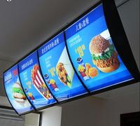 (400mmx600mm Size) Signboard Light Led Menu Board,Backlit Curve Photo Frame Illuminated Box Sign,Lighted Store Signs