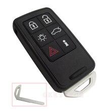 5 + 1 Кнопки Смарт-карт Дистанционного Ключа Shell Fob 6 Кнопка Бесключевой Fob Ключа автомобиля Чехол для Volvo S60 S80 V60 XC60 XC70 с логотип