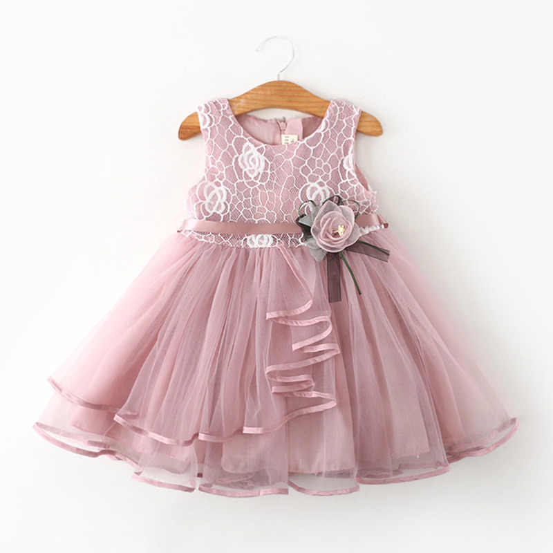 c6a77a47fc12 Flower Newborn Baby Dress New Summer Cute Baby Girls Clothes Tulle Lace  Infant XMAS Party Clothing